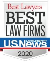 "2020 U.S. News ""Best Law Firms"" badge"